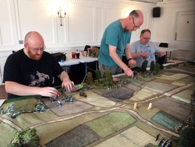 Empires Rampant games in action at the Lenton Gamers club.