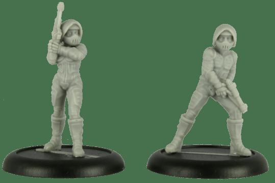 Cold War Miniatures - Neo Futura Bikers 1