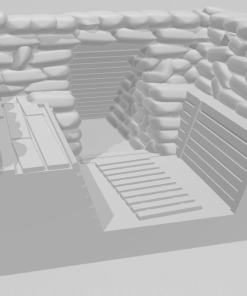 Great War Trench end right with dugout
