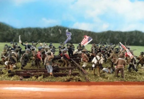 American Civil War diorama using Stone Mountain Miniatures 15mm ACW figures