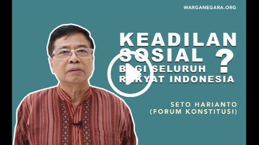 Keadilan Sosial Bagi Seluruh Rakyat Indonesia