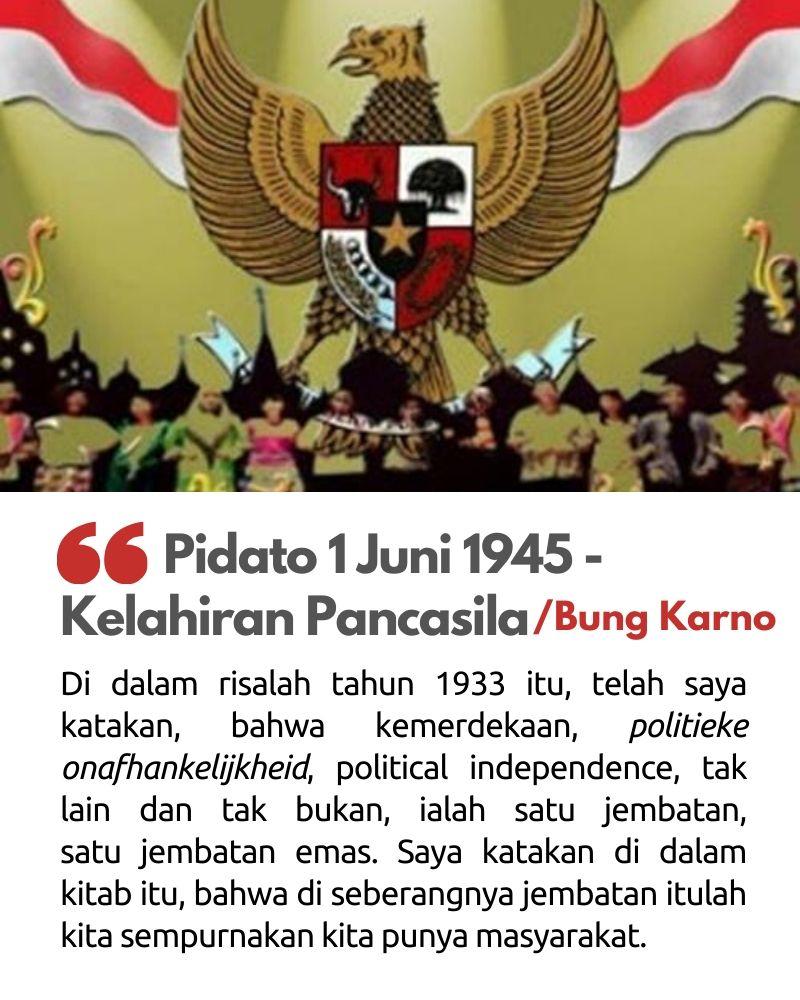 Pidato 1 Juni 1945 - Kelahiran Pancasila