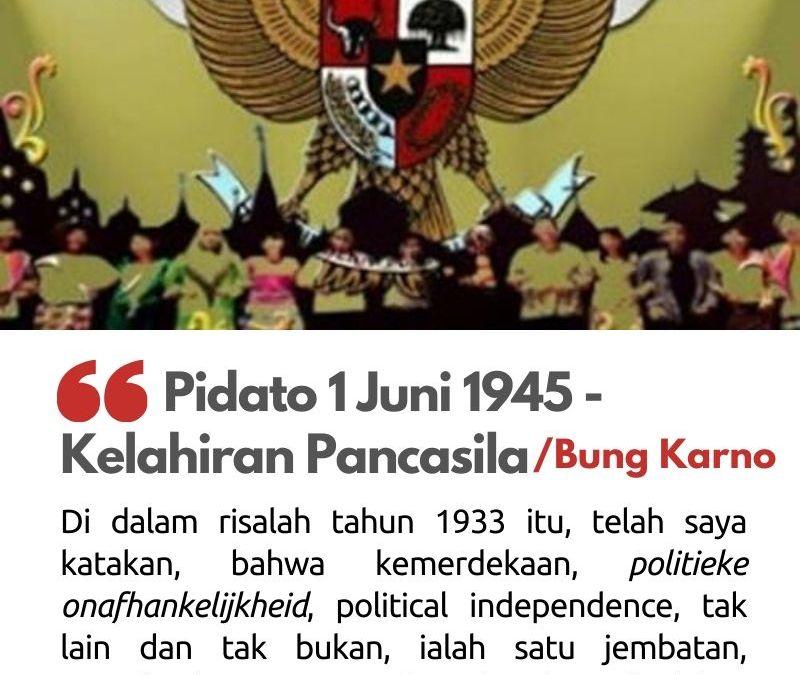 Pidato 1 Juni 1945 – Kelahiran Pancasila