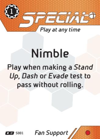 Carta Dreadball Nimble