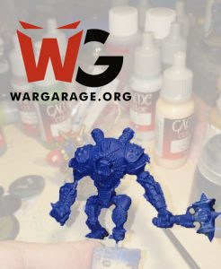 Ironclad de Warmachine con imprimación azul