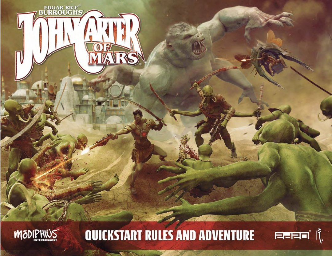 John Carter of Mars juego de rol portada de la guía gratis de inicio rápido