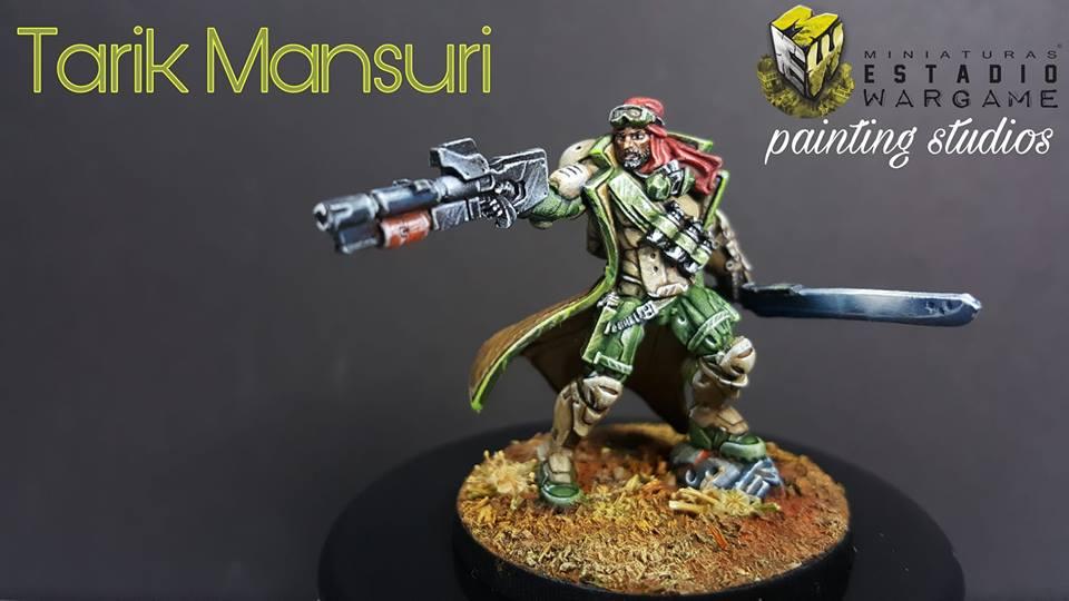Tarik Mansuri de Infinity the Game pintado por Miniaturas Estadio Wargame