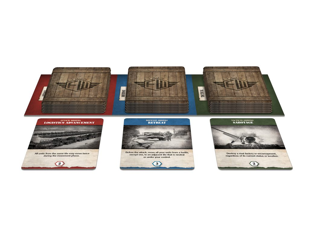 Frontier Wars will have three decks, Attack, Defense and Orders