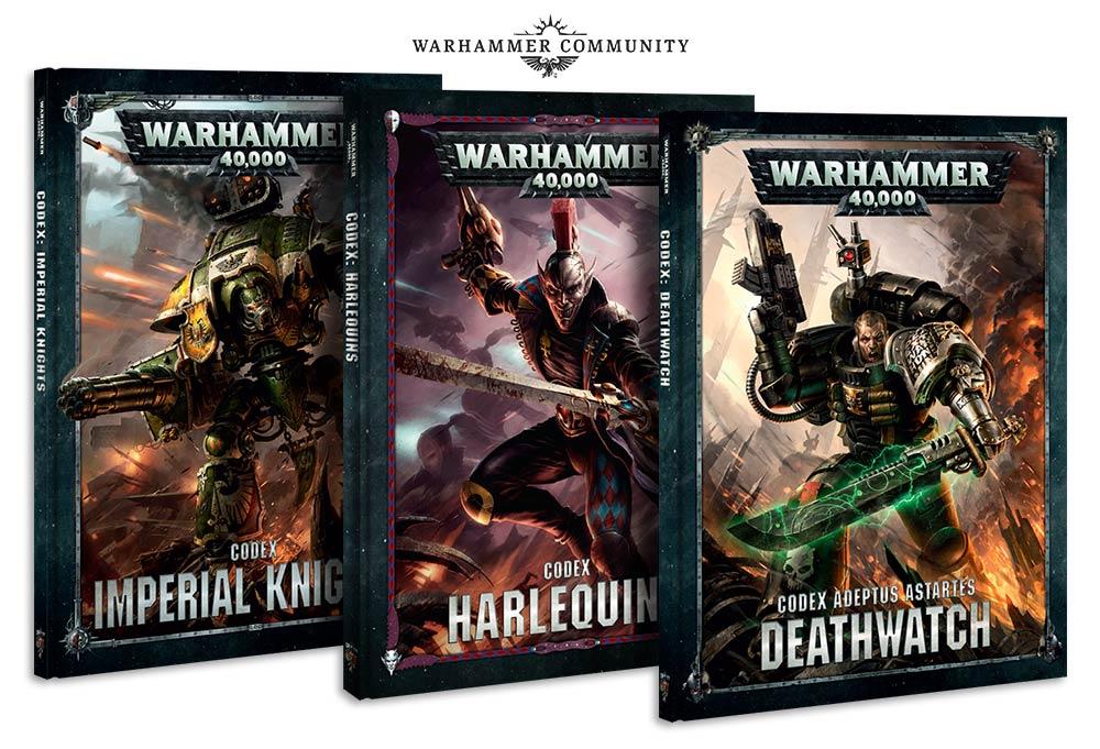 Nuevos Codex para Warhammer 40,000 Caballeros Imperiales, Arlequines y Guardianes de la Muerte