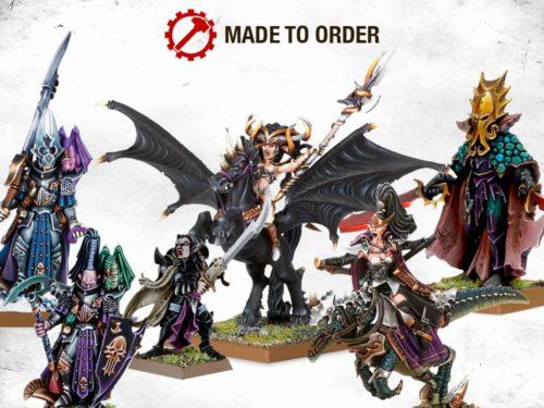 Primera oleada de miniaturas por encargo (Made to Order) estarán dedicadas a los Elfos Oscuros