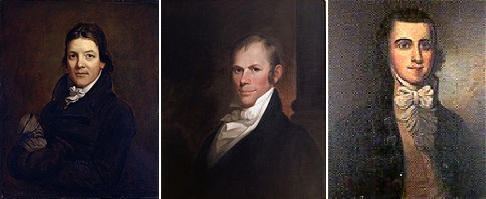 John Randolph, Henry Clay, and Richard Bland Lee, three of the early founders of the American Society for Colonizing the Free People of Color of the United States, better known as the American Colonization Society.