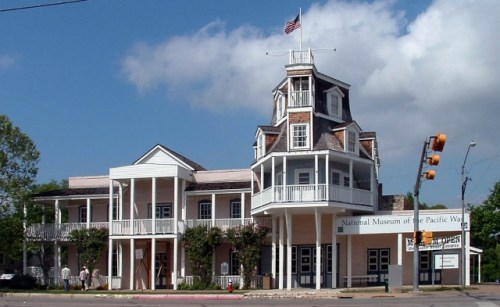 The former Nimitz Hotel now serves as the Nimitz Museum in Fredericksburg, TX