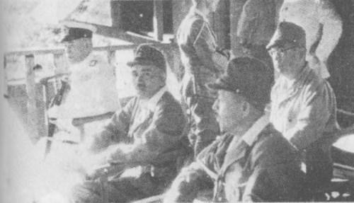 Yamamoto at Rabaul with Jinichi Kusaka in April 1943.