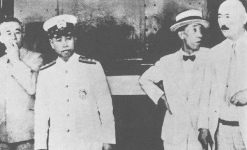 Yamamoto at Tokyo Station enroute to take command of the Combined Fleet on August 31, 1939.
