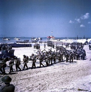 Canadians on Juno Beach, June 1944.