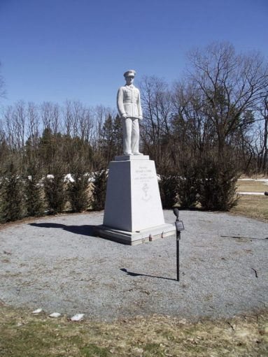 Statue of Col. Cook on the campus of St. Michael's College in Colchester, Vermont. Photo Credit.