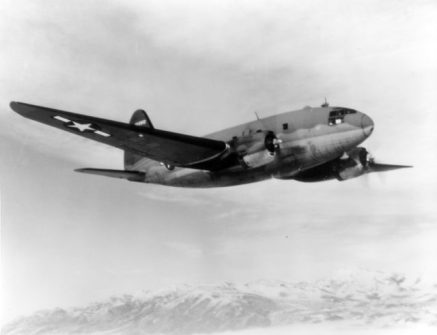 "Curtis C-46 ""Commando"" in flight"