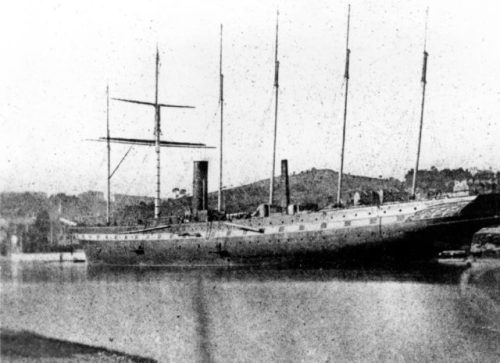 Great Britain in the Cumberland Basin, April 1844. This historic photograph by William Talbot is believed to be the first ever taken of a ship.