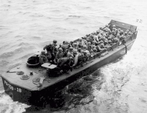 The boat which won the war: The LCVP could put 36 men on the beach, pull away, and get back to the ship all with in 3-4 minutes. These proved incredibly important for the Allied war effort.