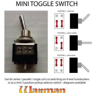 ON ON SUB miniatura piccole MINI Toggle switch SPDT