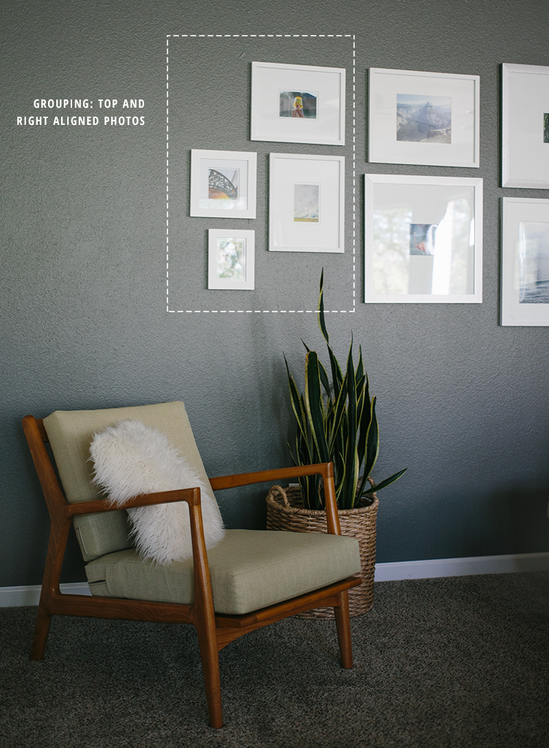 How to create a photo gallery wall with tips for designing a layout.
