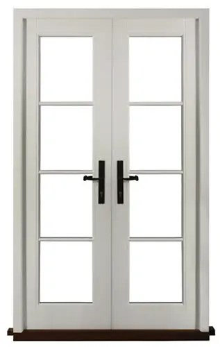 timber wooden french patio doors