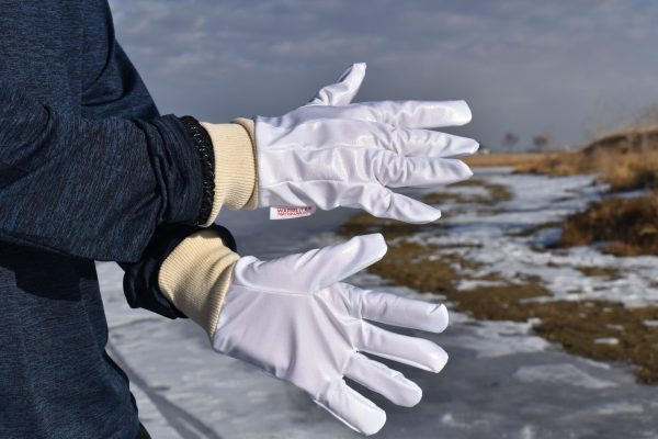 vapor barrier gloves close up