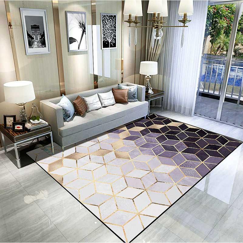 Modern Luxury Style Living Room Area Carpet Rugs