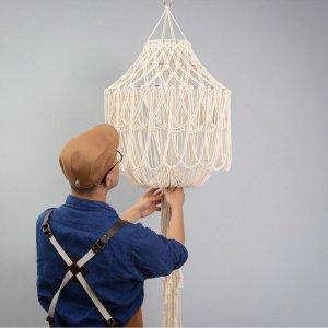 (Gift for Membership Cumulative Purchase Over $999) Handmade Hanging Lampshade Macrame Lantern