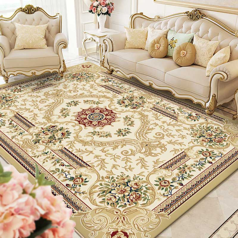 Traditional Pattern Poly Bedroom Carpet