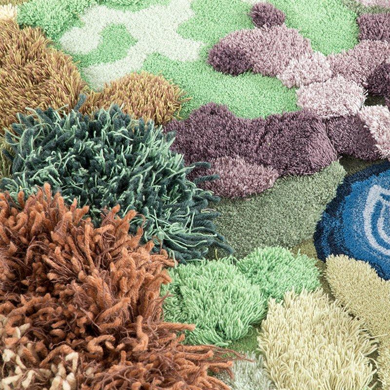 Handmade Creative Green Forest Carpet