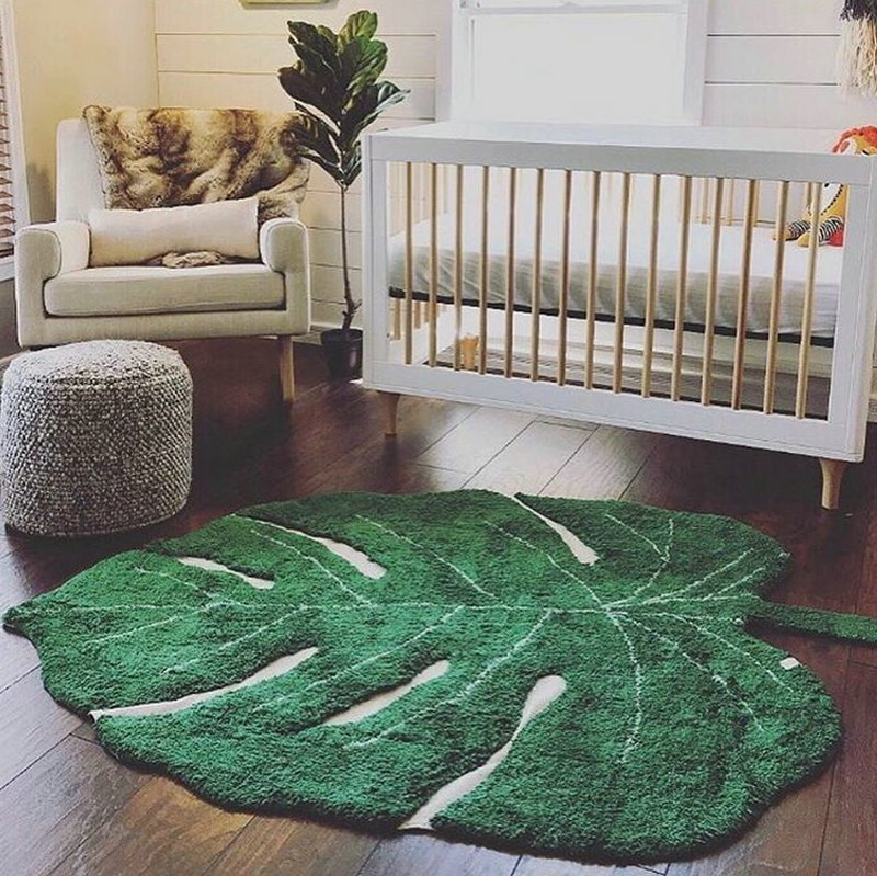 New Design Green Leaf Rugs
