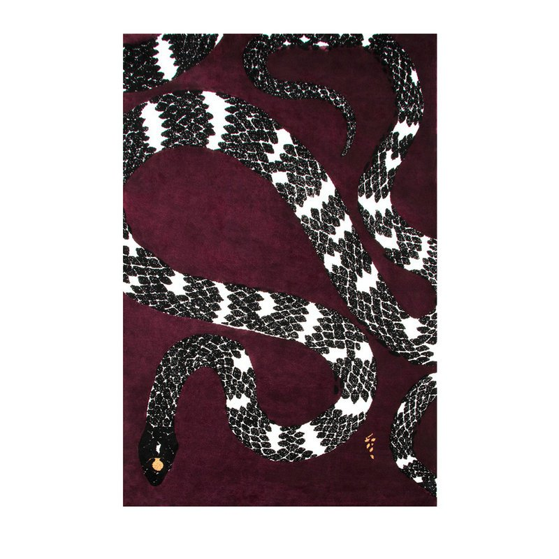 Pre-Sale Hand Tufted Wool Snake Rugs