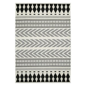 Modern Pattern White Black Rhombus Rugs