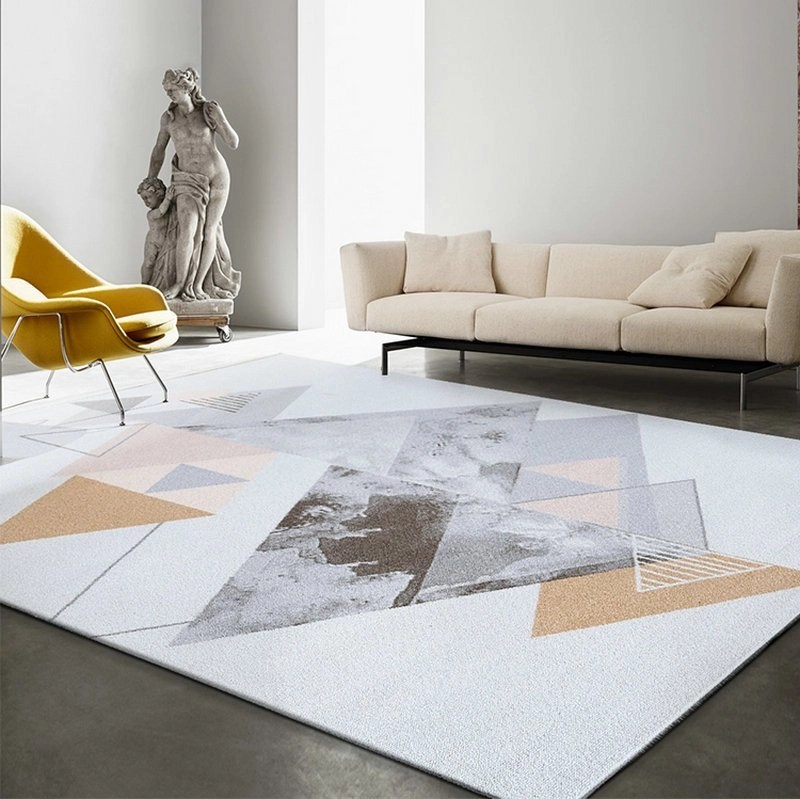 Artistic Conception Geometric Marbling Rugs