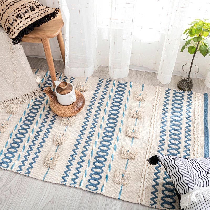 Soft Color Art Handmade Outdoor Rugs