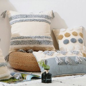 Morocco Boho Design Tufted Pillowcase