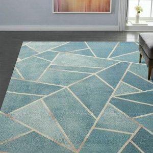 Geometric Art Rugs for Room Decor
