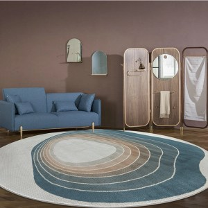 Round Rug in Living Room