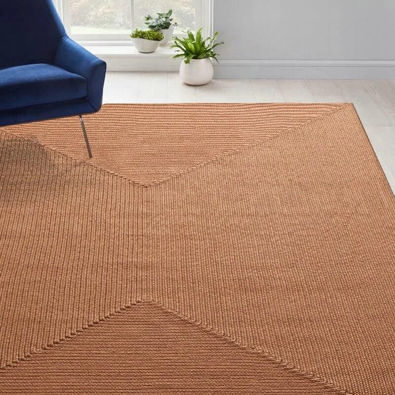 brown jute rug