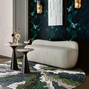 round cowhide rug