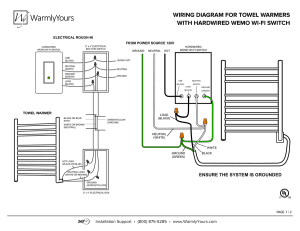WIRINGDIAGRAMTOWELWARMERSWITHHARDWIREDWEMOWIFI