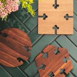 Gourmet Wood Trivet Trivet Square Oak Warm Nordic