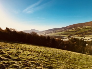 Towards The Skirrid from Garn Farm