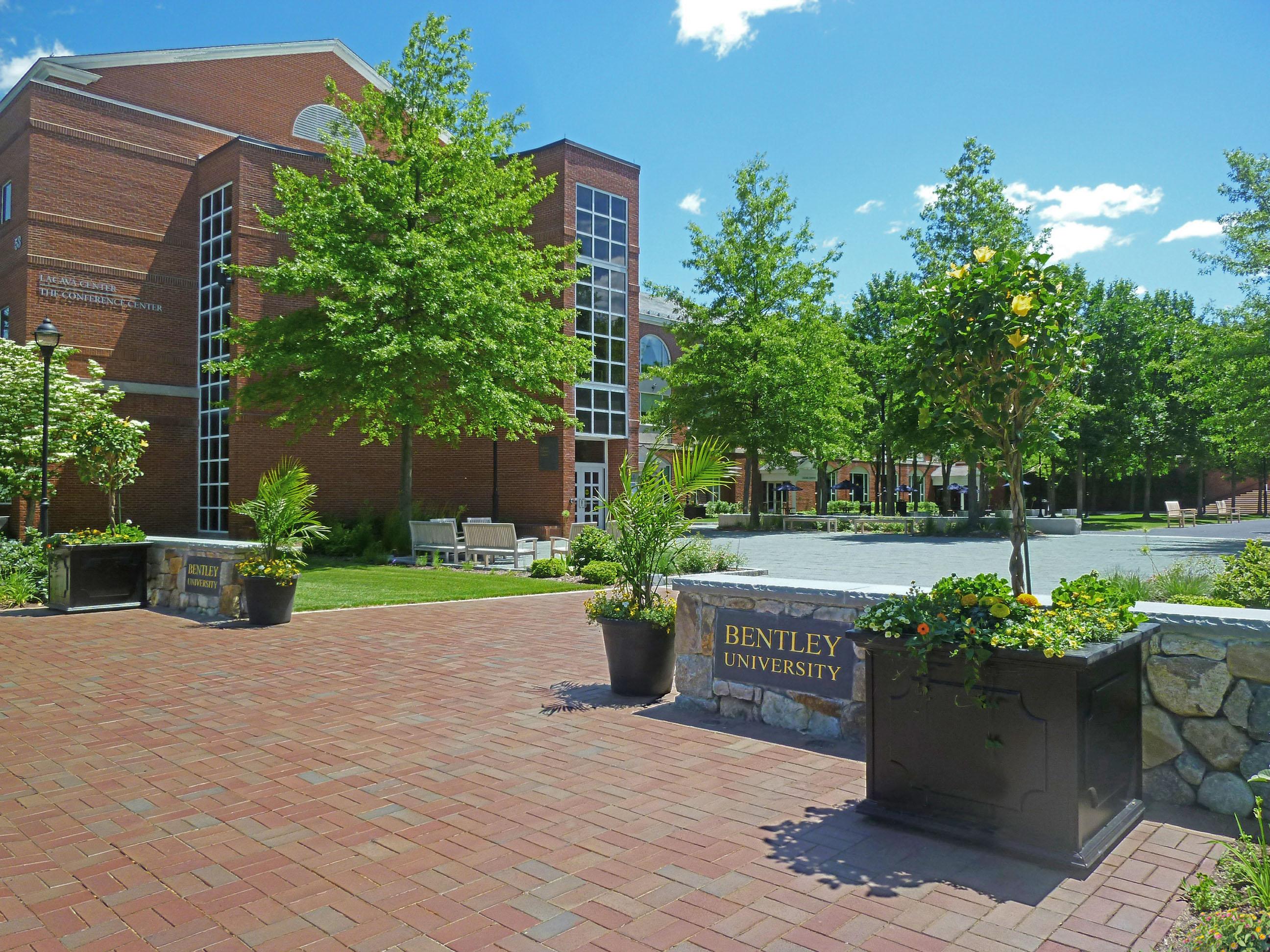 Bentley University Campus Entry Plaza Warner Larson