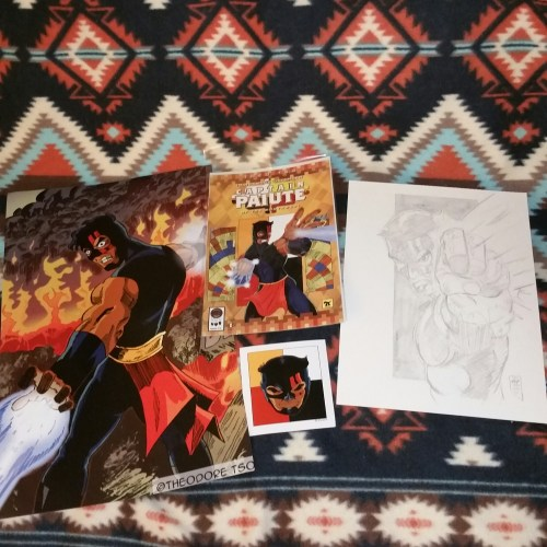 The bundles are here! for $25.00 you get the comic, a vinyl sticker, an 11X17 print and a hand drawn sketch! Email me at war_paint_studios@yahoo.com if you are interested in purchasing one today!