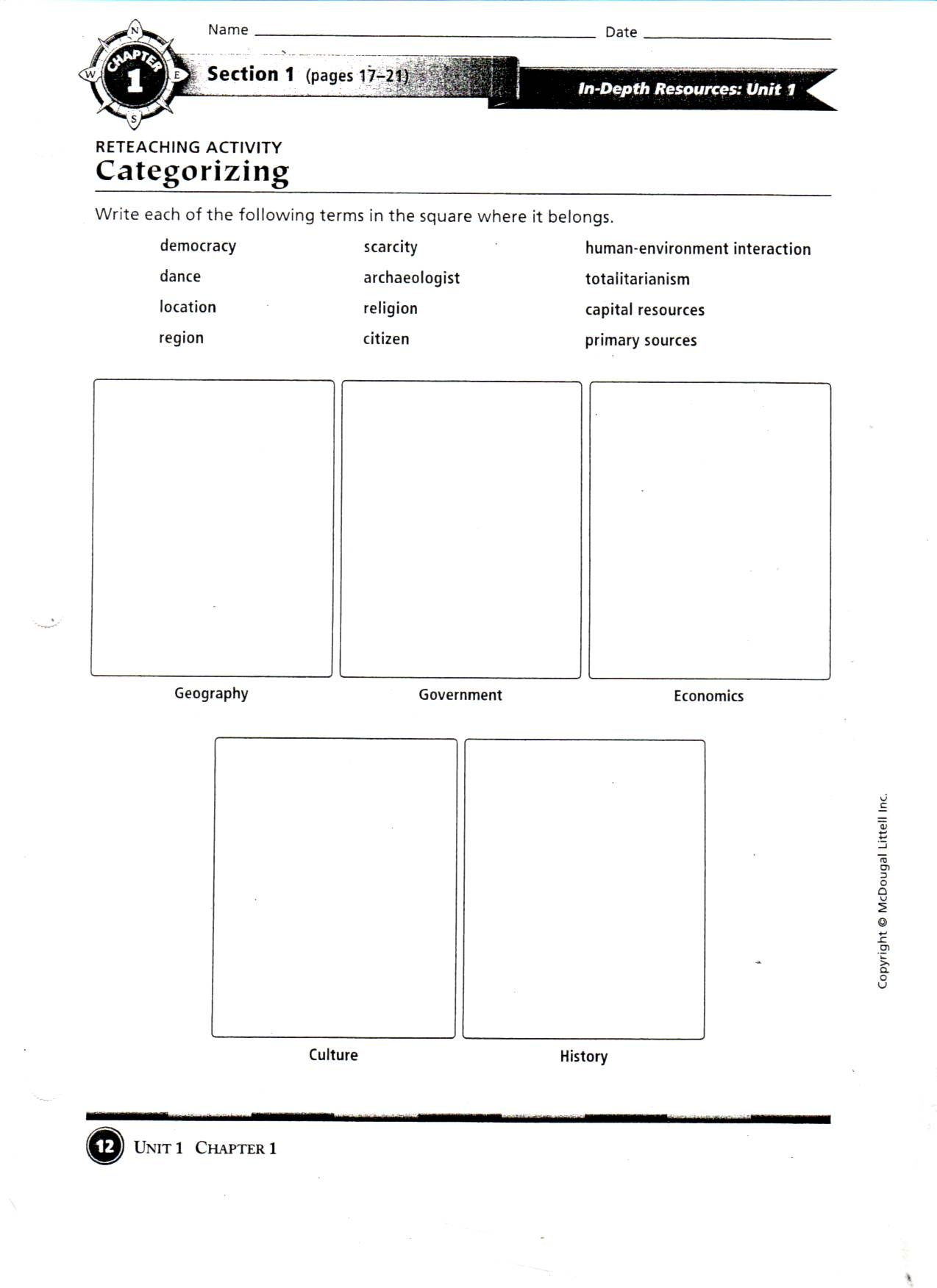 Geography Worksheet New 671 Five Themes Of Geography