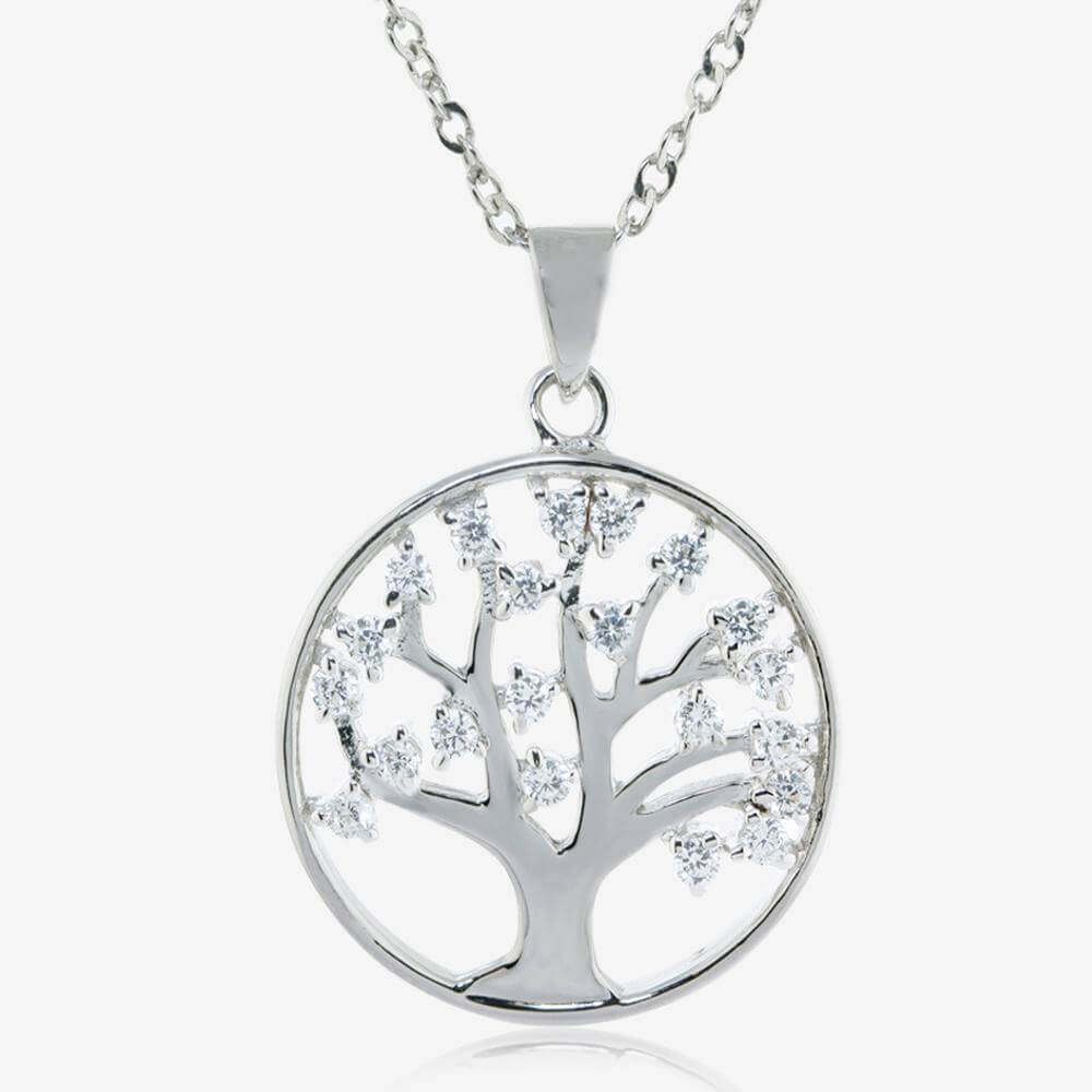 Sterling Silver Lifes Tree DiamonFlash Cubic Zirconia