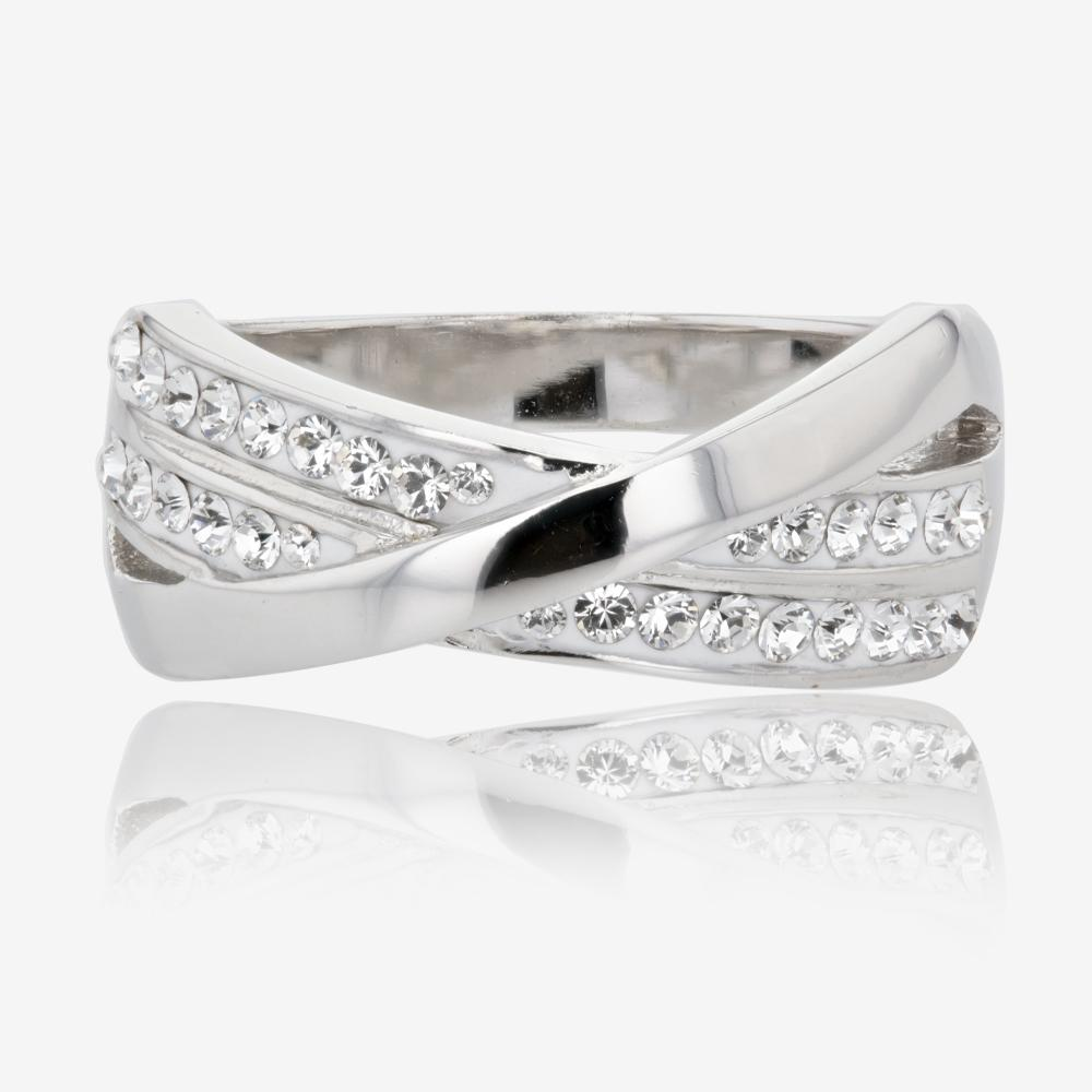 Lucille Sterling Silver Ring Made With Swarovski Crystals