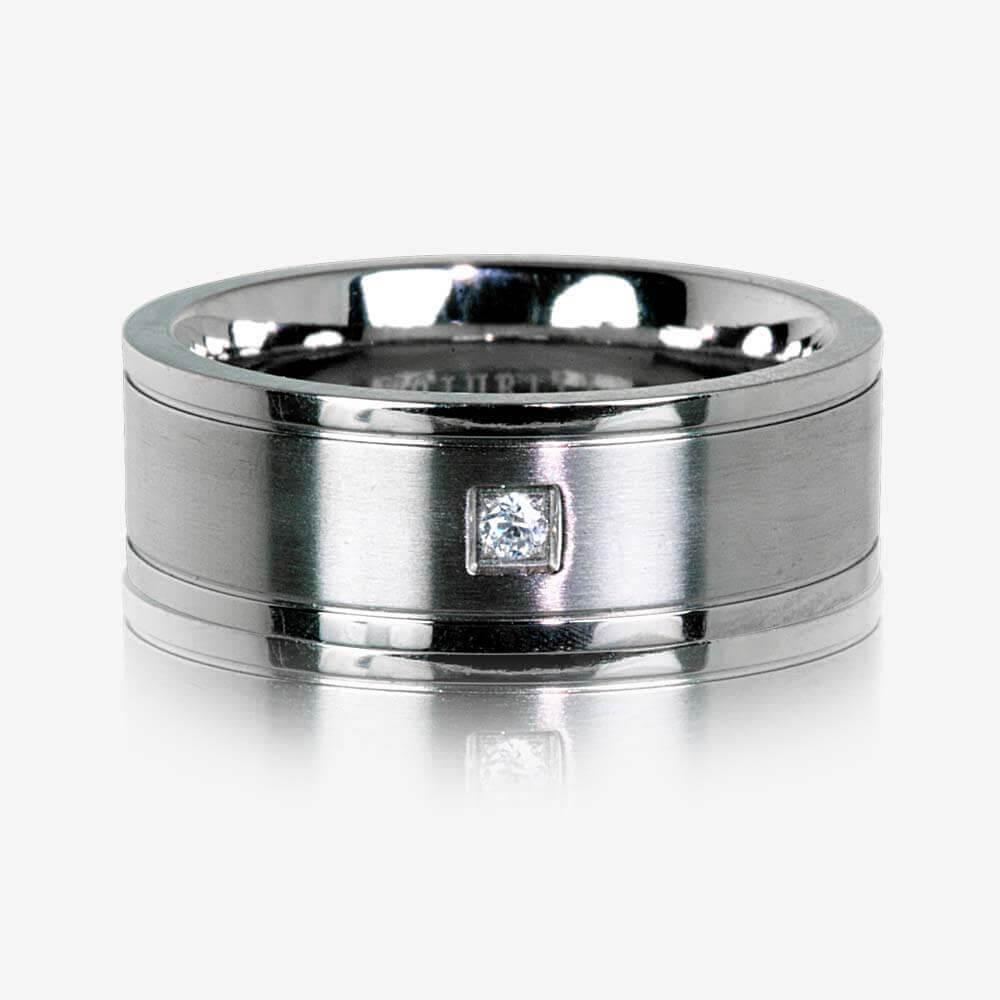Mens Titanium Band Ring